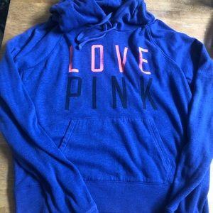 PINK hoodie with kangaroo pocket good condition M